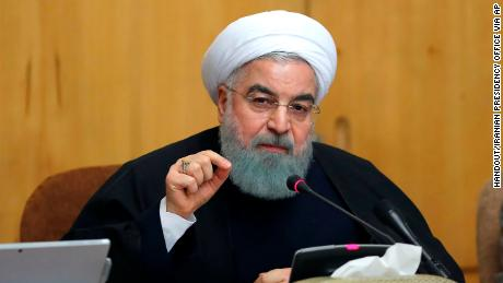 Iranian President Hassan Rouhani speaking in Tehran, on December 31, 2017.