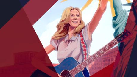 American Woman Sheryl Crow Illustrated
