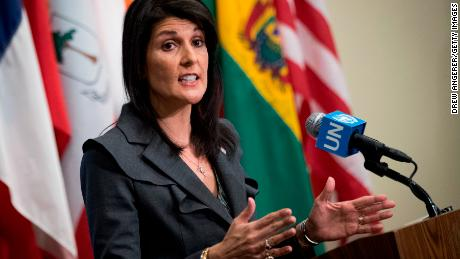 Haley declares Iran 'on notice,' but cracks show in US, European approaches to protests