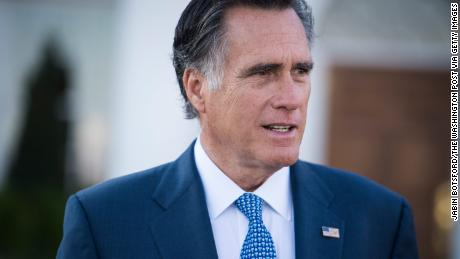 BEDMINSTER TOWNSHIP, NJ - NOVEMBER 19: Mitt Romney talks to the media after meeting with President-elect Donald Trump and Vice President-elect Mike Pence at the Trump National Golf Club Bedminster clubhouse at Trump National Golf Club Bedminster in Bedminster Township, N.J. on Saturday, Nov. 19, 2016. (Photo by Jabin Botsford/The Washington Post via Getty Images)