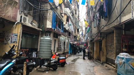 Shatila refugee camp, which suffers from squalid conditions, relies heavily on the United Nations Relief and Works Agency (UNRWA)