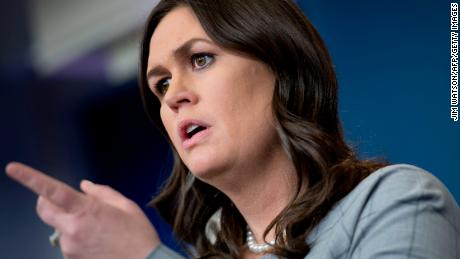 White House Press Secretary Sarah Sanders takes questions during the daily briefing at the White House in Washington, DC, on January 3, 2018. / AFP PHOTO / JIM WATSON        (Photo credit should read JIM WATSON/AFP/Getty Images)