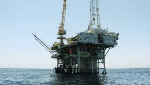 This undated photo provided by the California State Lands Commission shows Platform Holly, an oil drilling rig in the Santa Barbara Channel offshore of the city of Goleta, Calif. The platform will be decommissioned and its operator is seeking bankruptcy protection, nearly two years after the platform was idled when an onshore pipeline ruptured and spilled a massive amount of oil into the ocean, the state and Venoco LLC said Monday, April 17, 2017.