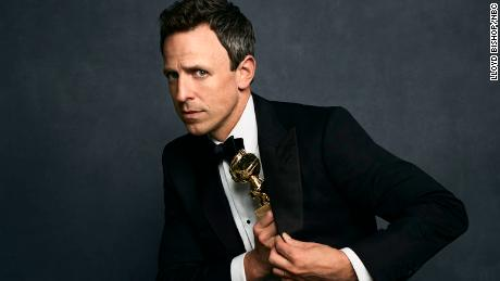 GOLDEN GLOBE AWARDS -- 75th Annual Golden Globe Awards -- Pictured: Host Seth Meyers -- (Photo by: Lloyd Bishop/NBC)