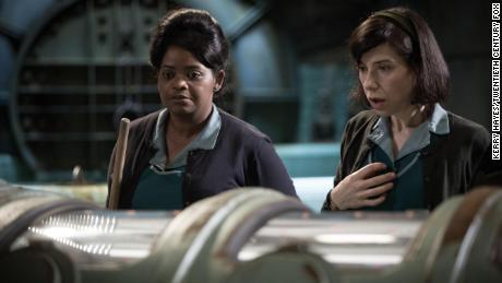 Sally Hawkins, right, is nominated for leading actress and Octavia Spencer, left, for supporting actress in 'The Shape of Water.'