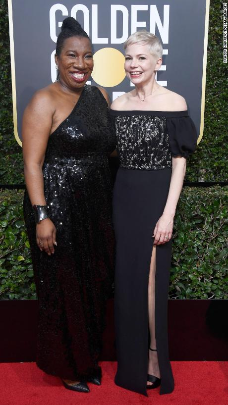 "Tarana Burke, left, and Michelle Williams. Burke is the founder of the <a href=""http://www.cnn.com/2017/10/30/health/metoo-legacy/index.html"" target=""_blank"">#MeToo movement.</a>"