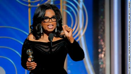 Oprah Winfrey accepts the 2018 Cecil B. DeMille Award onstage during the 75th Annual Golden Globe Awards.