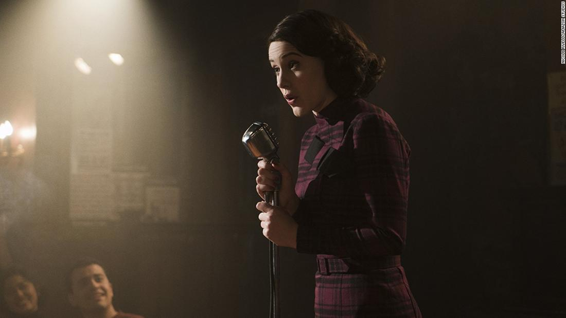 "<strong>Best actress in a television series -- musical or comedy:</strong> Rachel Brosnahan, ""The Marvelous Mrs. Maisel"""