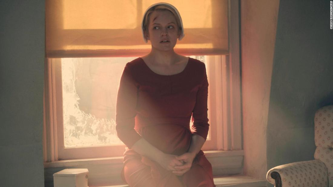 "<strong>Best actress in a television series -- drama:</strong> Elisabeth Moss, ""The Handmaid's Tale"""