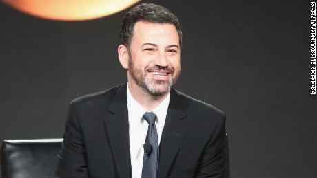 "Jimmy Kimmel, host and executive producer of ""Jimmy Kimmel Live!"" and host of the ""90th Oscars"", speaks onstage during the ABC Television/Disney portion of the 2018 Winter Television Critics Association Press Tour at The Langham Huntington, Pasadena on January 8, 2018 in Pasadena, California.  (Photo by Frederick M. Brown/Getty Images)"