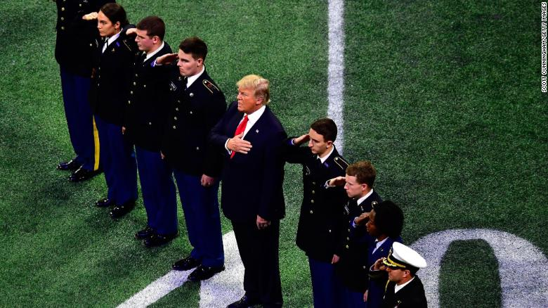 Trump's behavior at the College Football Playoff Championship raised some questions