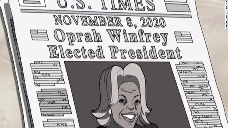 "The Oprah scene appears in Season 1, Episode 9 of the series, called ""Return of the King."""
