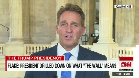 Flake on WH meeting after cameras left