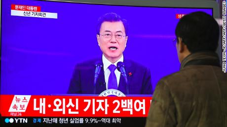 South Korea's Moon credits Trump with 'huge' contribution to North Korea talks
