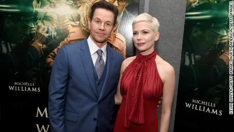 "BEVERLY HILLS, CA - DECEMBER 18:  Mark Wahlberg (L) and Michelle Williams attend the premiere of Sony Pictures Entertainment's ""All The Money In The World"" at Samuel Goldwyn Theater on December 18, 2017 in Beverly Hills, California.  (Photo by Kevin Winter/Getty Images)"