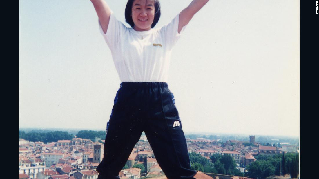 "Tani, pictured here at a training camp in France, has been afforded the chance to travel the world with sport. ""Through the practicing of judo I have met many friends, fans and senseis who have supported me on this long journey,"" she says."
