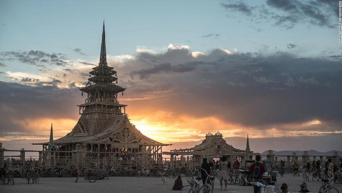 "The theme for this year's Burning Man was ""Fertility 2.0."" So David Best's Temple of Juno was aptly named after the Roman goddess of marriage and childbirth, and the protectress of women. Best's design returned to a more traditional temple style."
