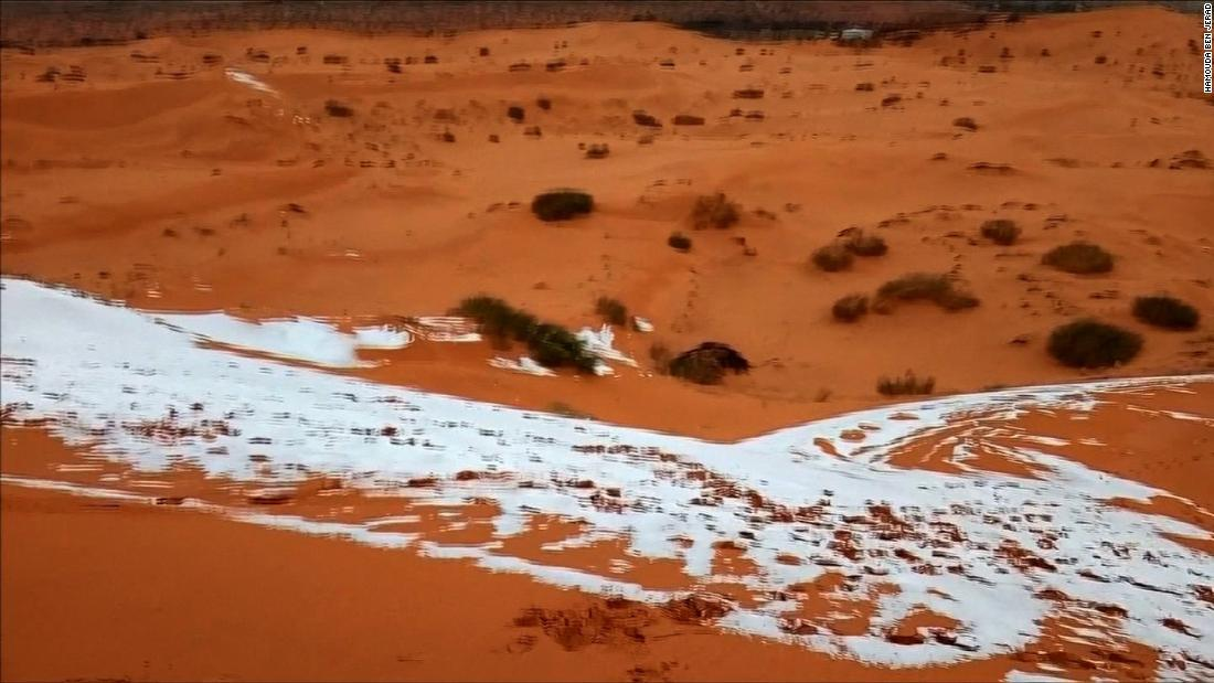 It snowed in one of the world's hottest places - CNN Video