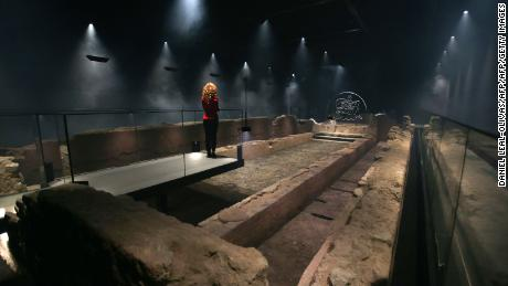 The reconstructed temple sits seven meters below the City of London.