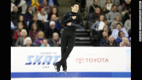 SAN JOSE, CA - JANUARY 06:  Nathan Chen competes in the Men's Free Skate during the 2018 Prudential U.S. Figure Skating Championships at the SAP Center on January 6, 2018 in San Jose, California.  (Photo by Matthew Stockman/Getty Images)