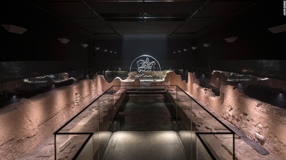 An ancient Roman temple has been recreated on the site of its original discovery, seven meters beneath the heart of London. It is one of more than 400 temples to the god Mithras discovered across Europe, North Africa and the Middle East.