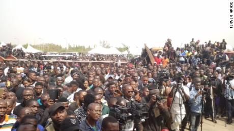 Crowd at Benue's mass burial