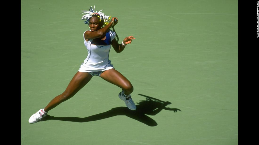 Venus Williams first played in the Australian Open at Melbourne Park in 1998.