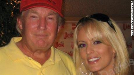 A photo of Donald Trump and Stormy Daniels.