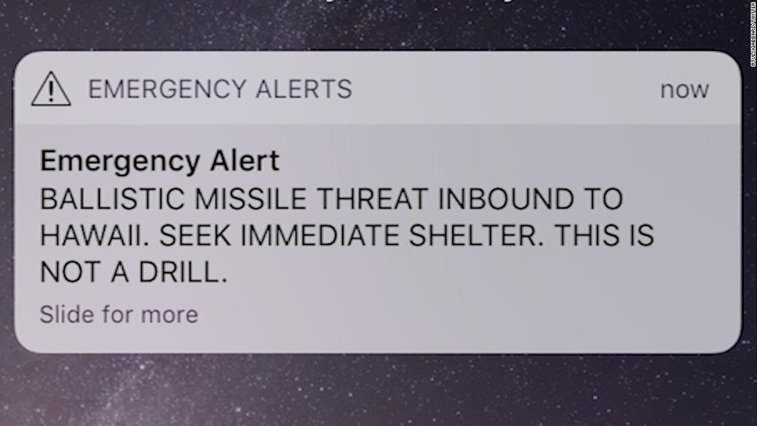 Missile threat alert for Hawaii a false alarm