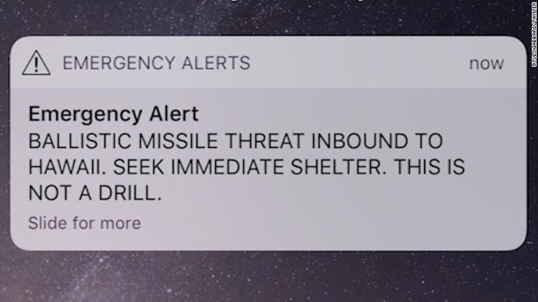 hawaii missle alert false alarm