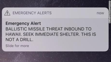 How was Hawaii's false missile alert sent out?