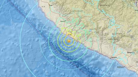 The 7.1-magnitude earthquake struck off the coast of southern Peru.