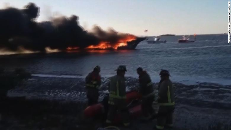 Dozens rescued after casino boat catches fire