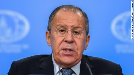 Russian Foreign Minister Sergey Lavrov gives his annual press conference in Moscow on January 15, 2018. / AFP PHOTO / Yuri KADOBNOV        (Photo credit should read YURI KADOBNOV/AFP/Getty Images)