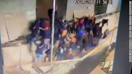 Moment Floor Collapses At Jakarta Stock Exchange Cnn Video
