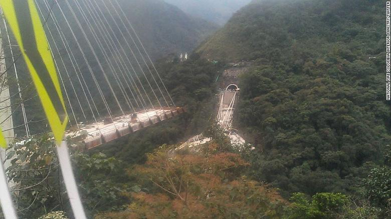 Ten construction workers were killed after a bridge collapsed bridge near Bogota, Colombia.