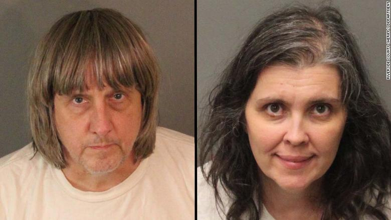 David Allen Turpin, left, and Louise Anna Turpin face charges of torture and child endangerment.