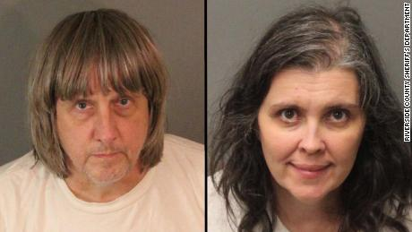 David Allen Turpin, left, and Louise Anna Turpin, right, are seen in booking photos released by the Riverside County Sheriff's Department.
