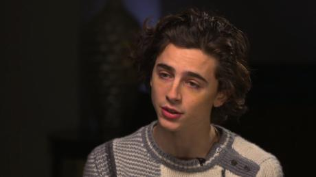 The actor Timothee Chalamet speaks with CNN and PBS's Christiane Amanpour in New York on January 9, 2018.