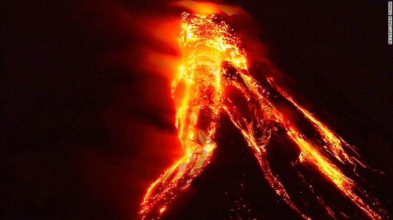 philippines volcano begins spewing lava cnn