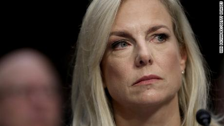 "Homeland Security Secretary Kirstjen Nielsen testifies during a hearing held by the Senate Judiciary Committee January 16, 2018 in Washington, DC. Sen. Patrick Leahy and Sen. RIchard Durbin Durbin both questioned Nielsen about derogatory language reportedly used by U.S. President Donald Trump during a meeting last week on immigration. Nielsen said ""I did not hear that word used"", when asked about the word ""shithole""."