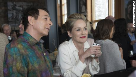 Paul Reubens, Sharon Stone in 'Mosaic'