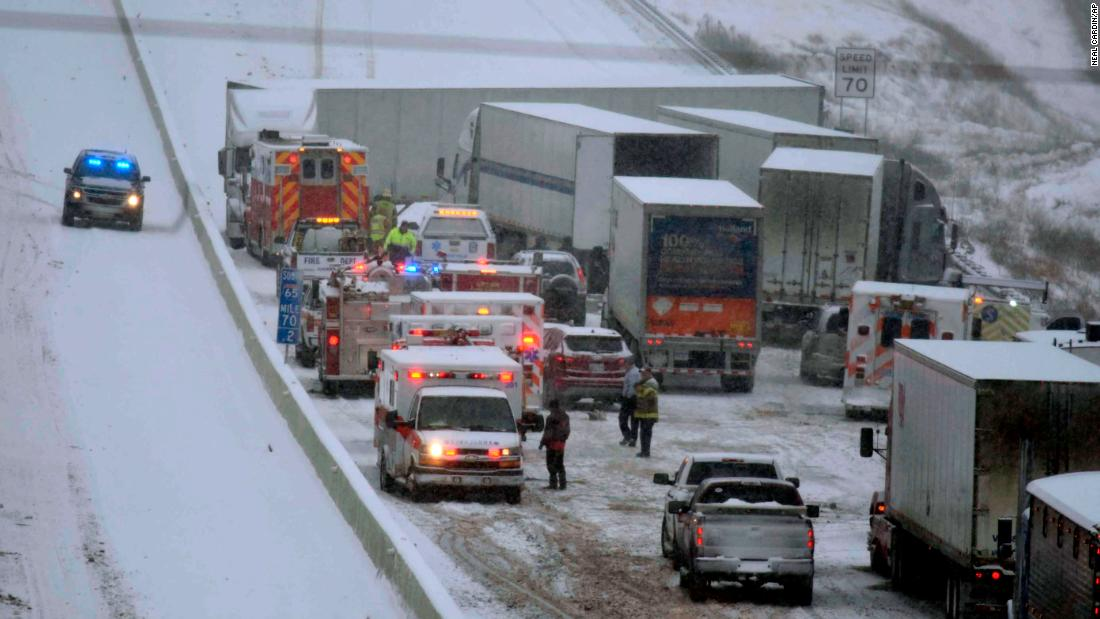 Snow comes to the South, along with frigid temperatures and slippery roads