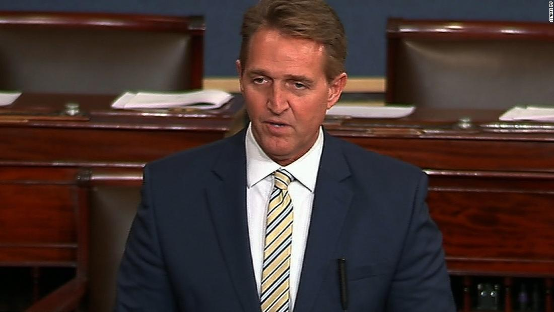 Watch Sen. Flake condemn Trump on Senate floor - CNN Video
