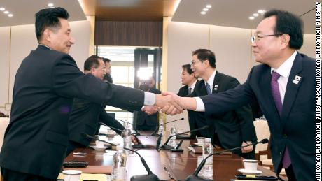 North and South Korean delegates meet at the DMZ to discuss the logistics of North Korea's participation in the 2018 Pyongchang Olympic games.