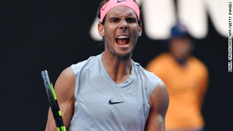 Rafael Nadal advanced in straight sets over Leonardo Mayer.