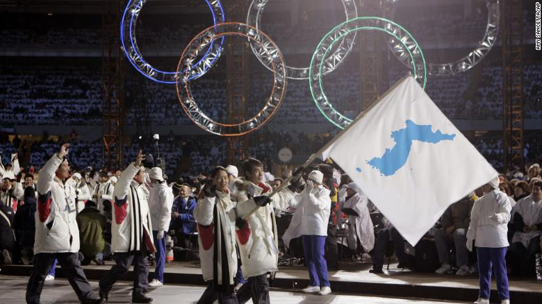 North, South Korea to march together under one flag at Winter Olympics