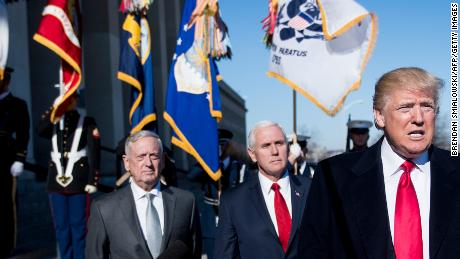 US defense chief Jim Mattis says he is on President Trump's 'team'