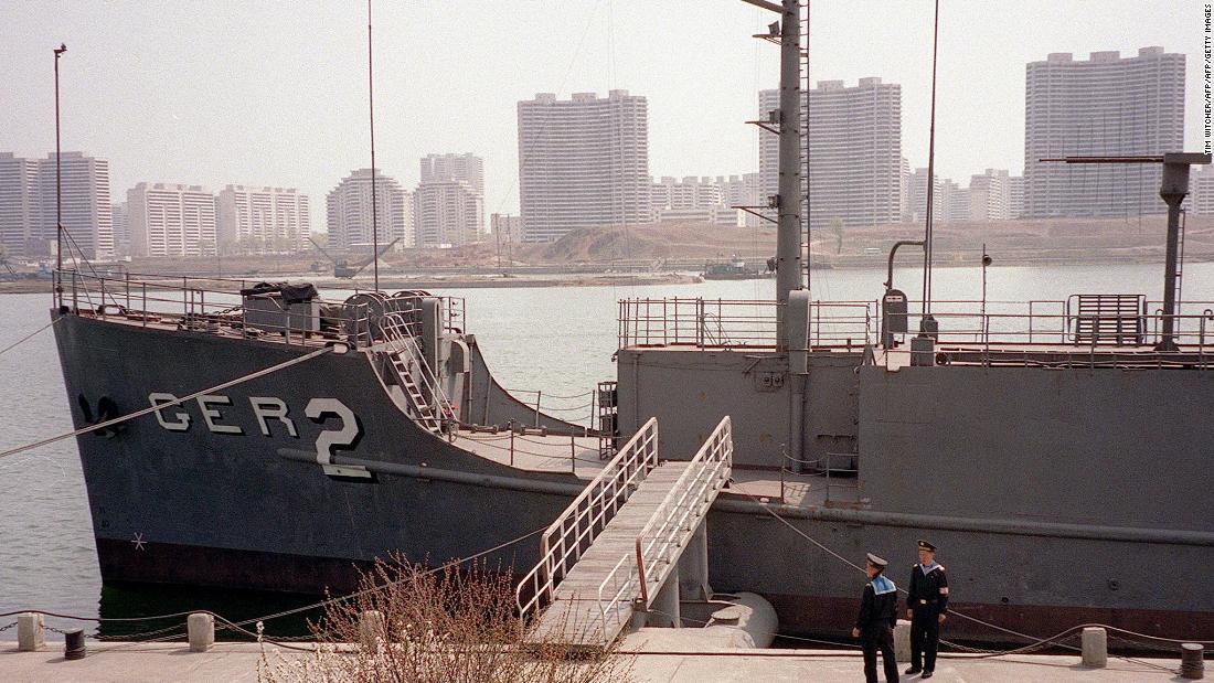 The USS Pueblo seen in Pyongyang, North Korea, on April 16, 2001.
