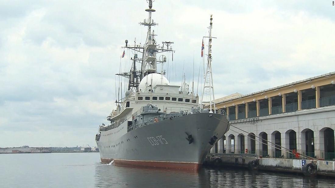 Russian spy ship spotted 100 miles off North Carolina coast